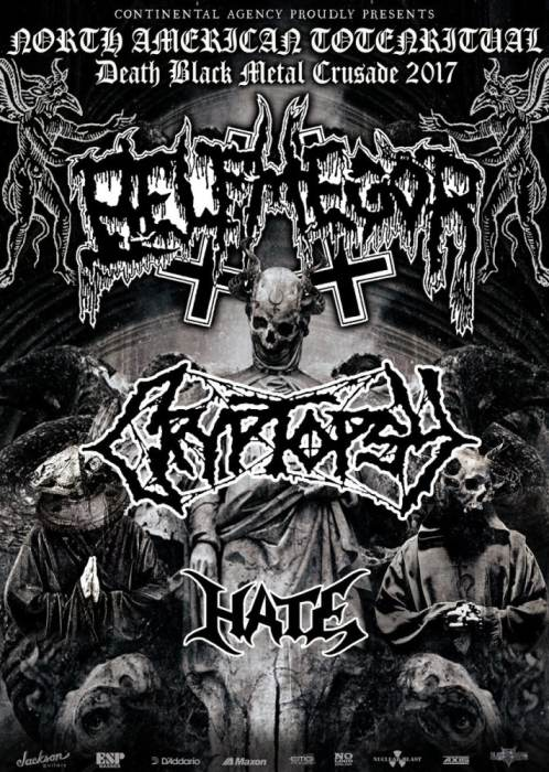 Belphegor, Cryptopsy, Hate