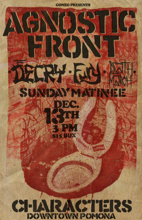 AGNOSTIC FRONT Old school Sunday matinee