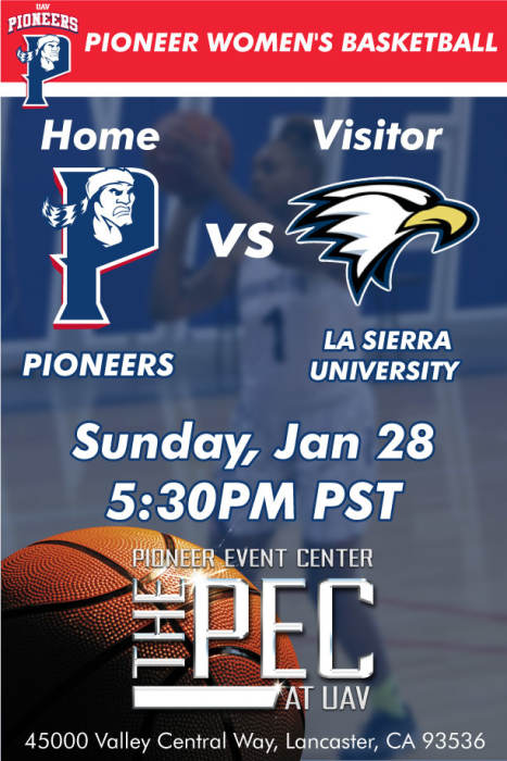 University OF Antelope Valley Pioneers vs LA SIERRA UNIVERSITY