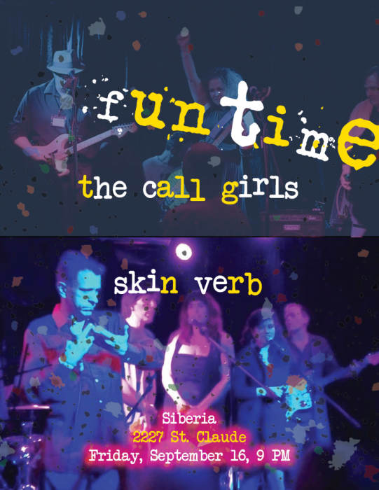 Poets with Bands: The Call Girls & Skin Verb