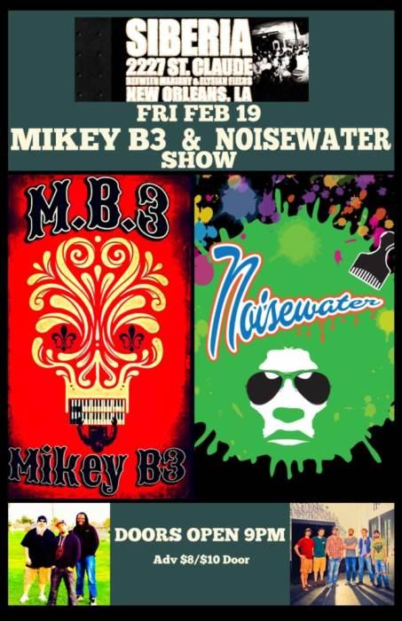 Mikey B3 Band   Noisewater