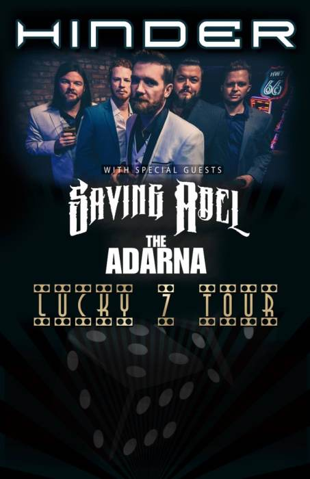 Hinder / Saving Abel / The Ardana