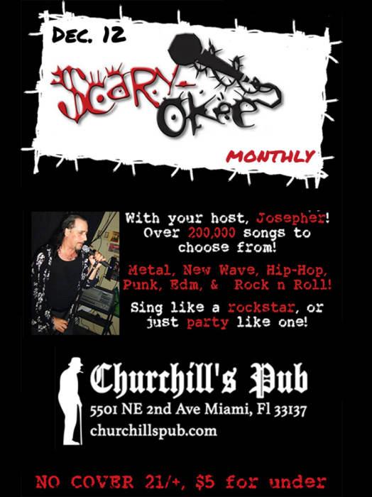 Scaryokee Monthly Gameshow & Karaoke Night with your host, Josepher Ringleader!