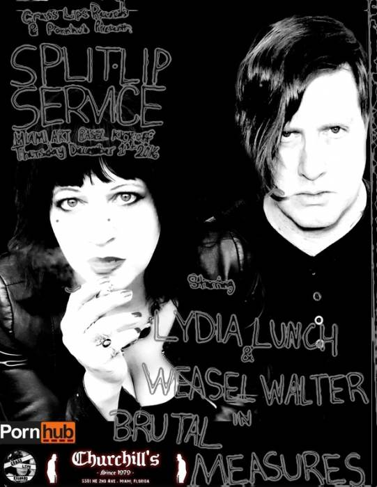 SPLIT LIP Service Starring LYDIA LUNCH + 20 other acts,zines&art