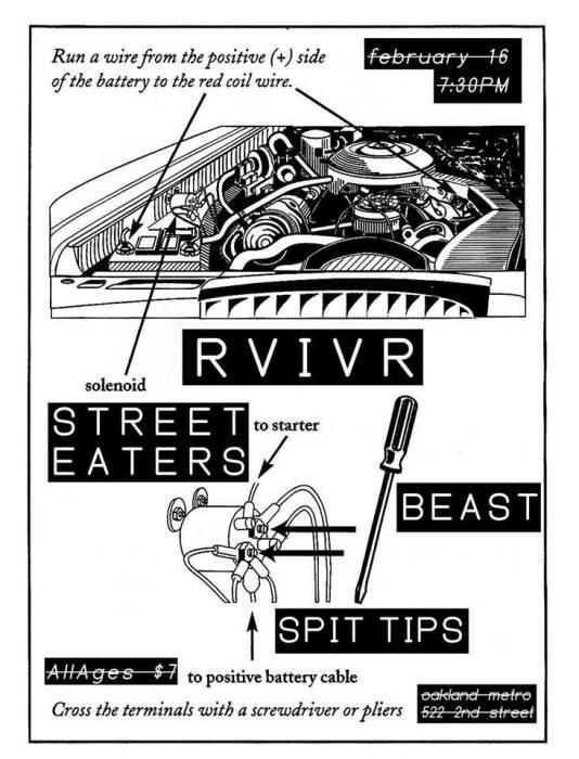 RVIVR, STREET EATERS, BEAST, SPIT TIPS