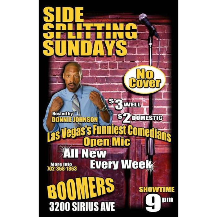Side Splitting Sundays OPEN MIC Comedy Club Hosted by Donnie Johnson