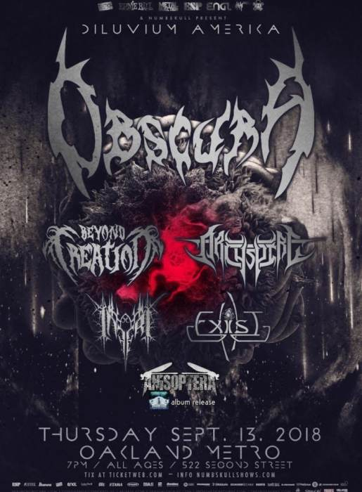 Suffocation, Cattle Decapitation, Krisiun,