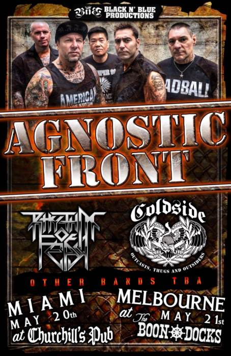 Agnostic Front, Coldside, Rhythm of Fear, Anger