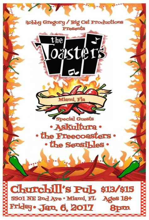 The Toasters, Askultura, The Freecoasters, The Sensibles, Plus DJ Skidmark vs DJ Fiasco!