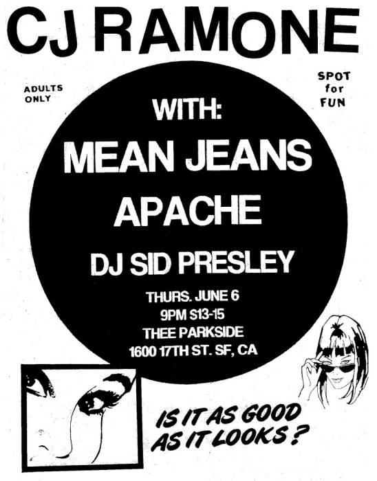 CJ Ramone, Mean Jeans, Apache