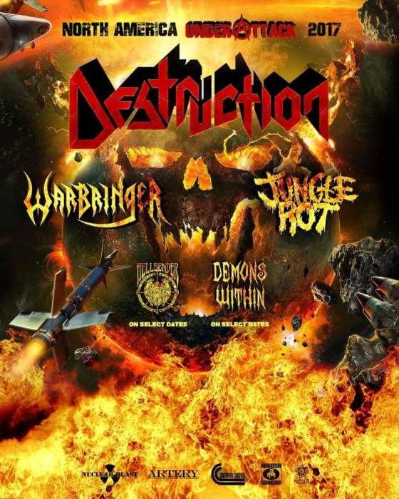Destruction, Warbringer, Jungle Rot, Hellbender