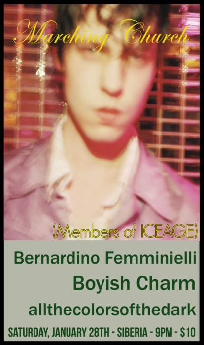 MARCHING CHURCH (Members of ICEAGE) | Bernardino Femminielli | Boyish Charm | Allthecolorsofthedark