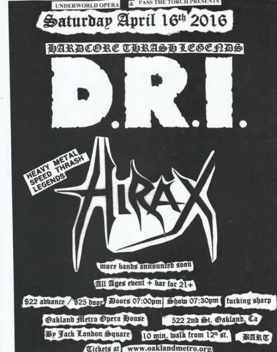 D.R.I. (dirty rotten imbeciles),  HIRAX