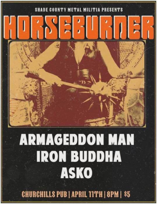 Horseburner, Armageddon Man, Iron Buddha, Asko
