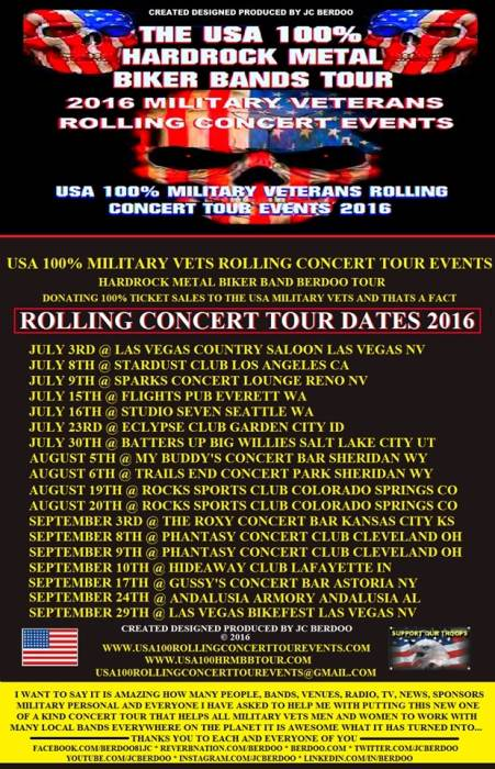 The USA 100% Hardrock Metal Tour