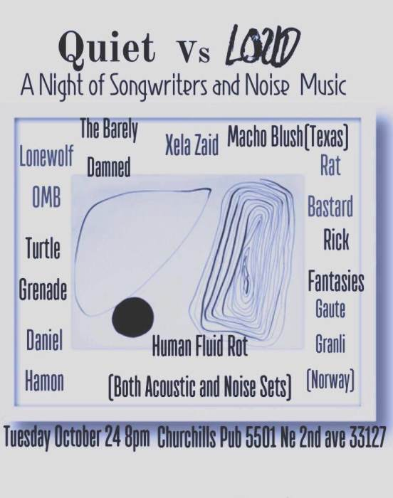 Quiet vs Loud:A night of songwriters and noise music