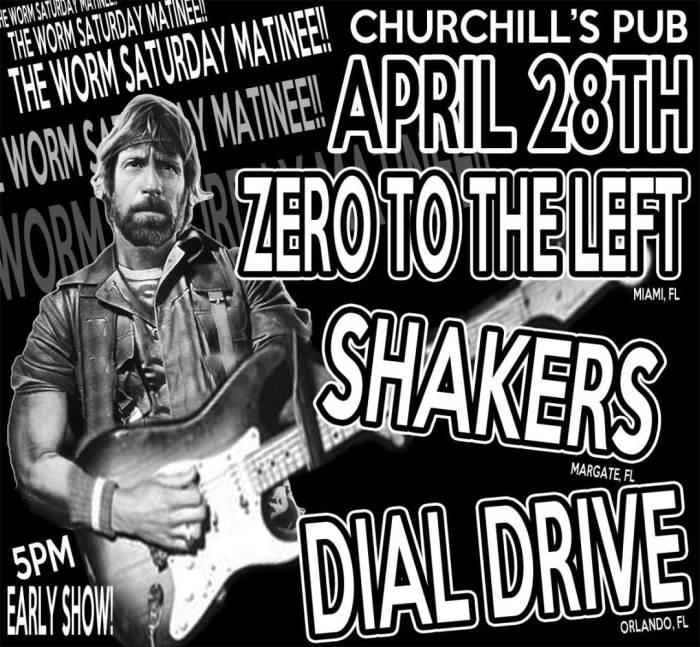 The Worm Matinee - Zero to the Left, The Shakers, Dial Drive
