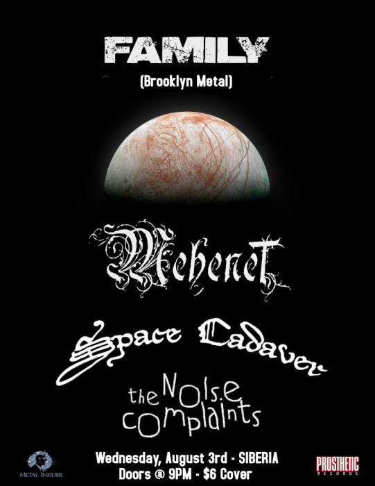 FAMILY | Mehenet | Space Cadaver | The Noise Complaints