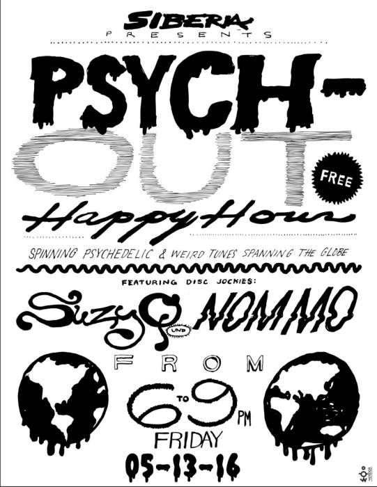 Psych Out Happy Hour : DJ Suzy Q