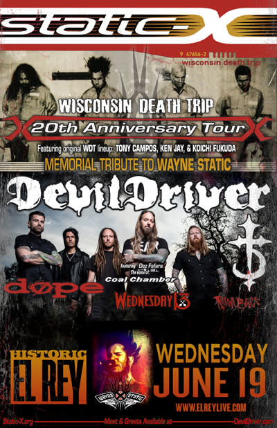 Static X  - Wisconsin Death Trip 20th Anniversary Tour