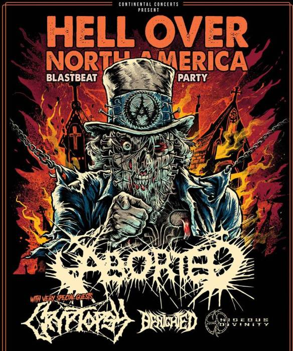 Aborted, Cryptopsy, Benighted, Hideous Divinity