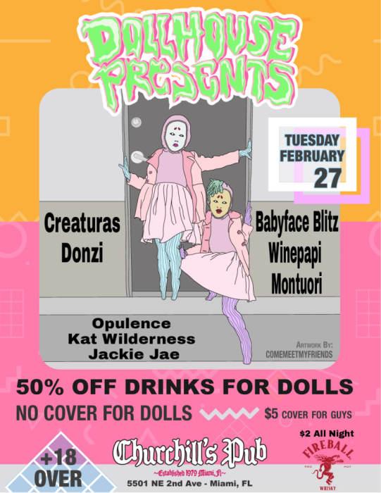 Dollhouse presents Ladies Night -