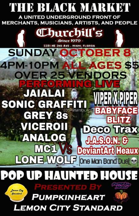 The Black Market with Jaialai, Sonic Graffiti, Viceroy, Analog, MC1, Lone Wolf, plus vendors and more!