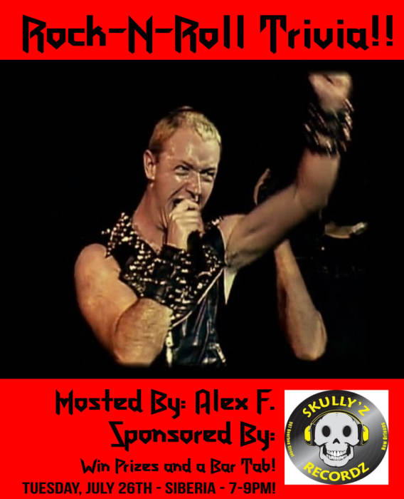 ROCK-N-ROLL TRIVIA - Sponsored by Skully