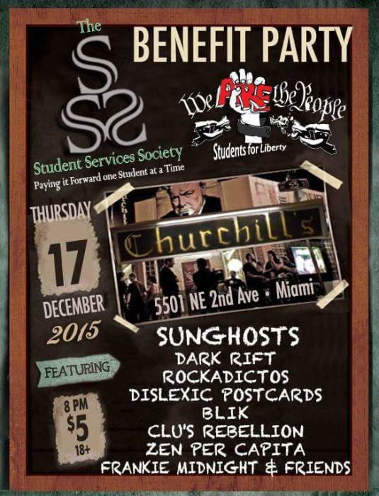 We Are The People benefit Party with Sunghosts, Dark Rift, Rockadictos, Dyslexic Postcards, Blik, Clu
