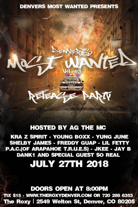 Denvers Most Wanted Vol. 8 CD Release Party