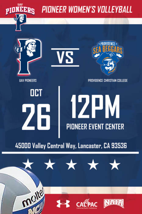UNIVERSITY OF ANTELOPE VALLEY VS PROVIDENCE CHRISTIAN COLLEGE