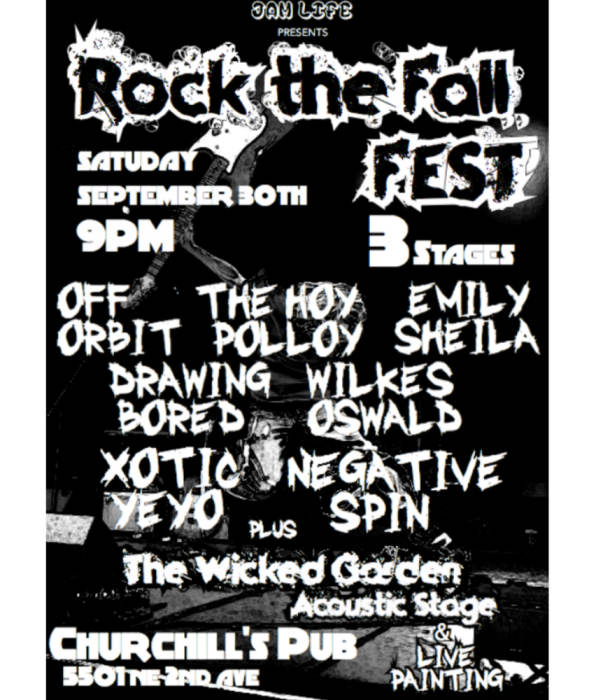 JAM LIFE PRESENTS... ROCK THE FALL MUSIC FESTIVAL