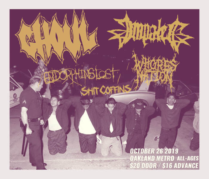 Ghoul, Impaled, Endorphins Lost, Whoresnation (France)