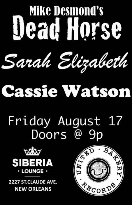 United Bakery Records Showcase: Sarah Elizabeth | Cassie Watson | Mike Desmond