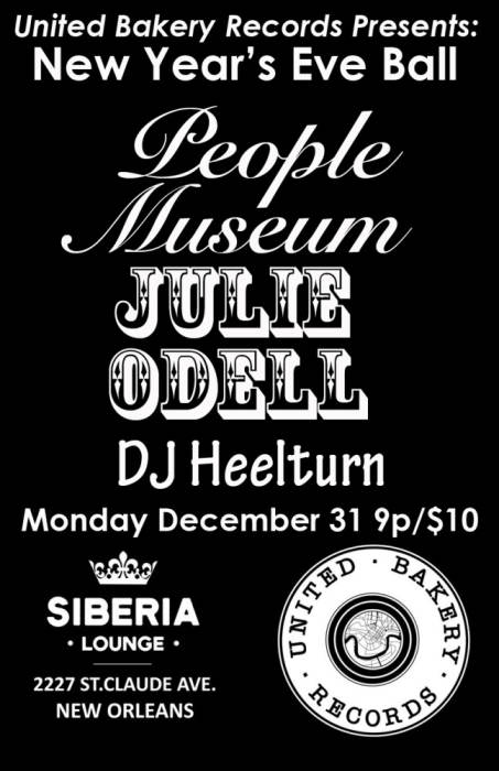 United Bakery Records New Years Eve Ball: People Museum | Julie Odell | DJ Heelturn