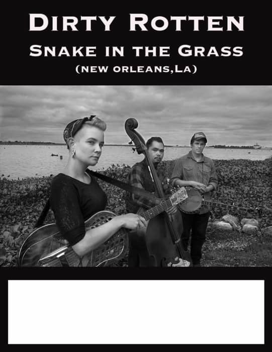 Folk City Nights presents Dirty Rotten Snake in the Grass (New Orleans), Rik and the Pigs (Olympia, Washington), Micah Scott, and Lonewolf (One Man Band). 9p/$5