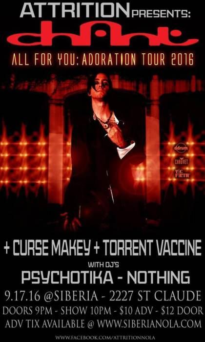 ATTRITION Presents: CHANT | Chase Makey | Torrent Vaccine | DJs Psychotika & Nothing