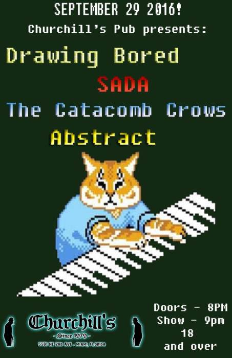 Drawing Bored, SADA, Catacomb Crowes, Abstract, & Aceskully