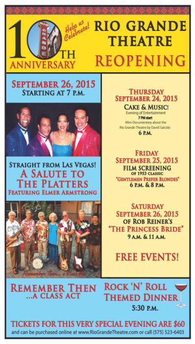Rio Grande Theatre 10th Anniversary Reopening Celebration