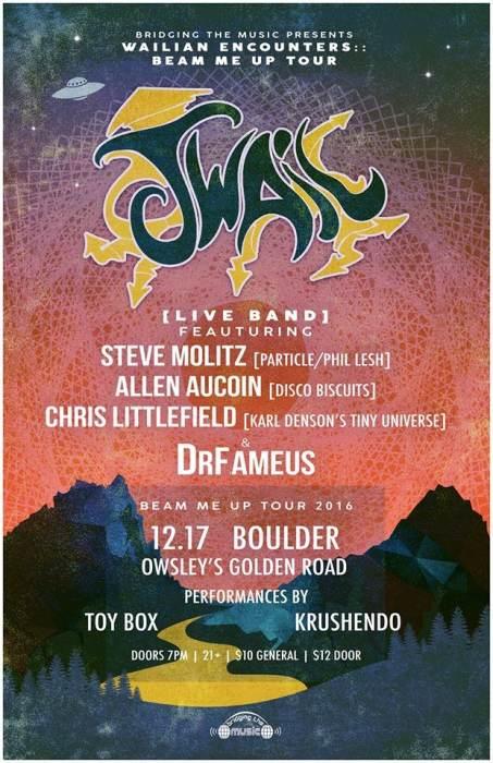 J.WAIL [live band] ft/ special guests:: Steve Molitz [Particle/Phil Lesh] Allen Aucion [of the Disco Biscuits]  Chris Littlefield [Karl Denson