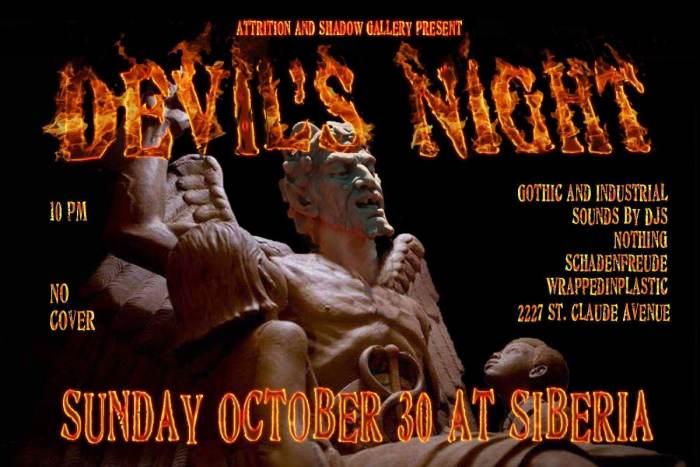 Attrition & Shadow Gallery Present: DEVIL