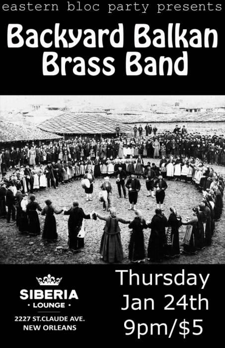 Eastern Bloc Party: Backyard Balkan Brass Band