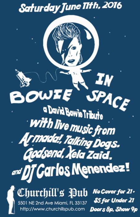 Bowie in Space with Armada!, Talking Dogs, Godsend, & DJ Carlos Menendez