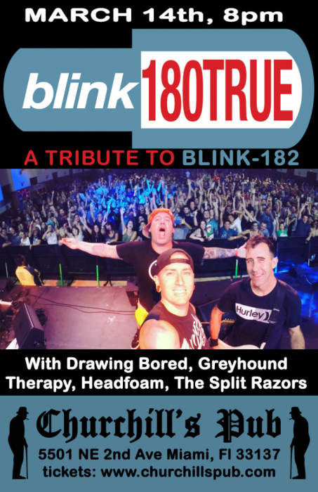 BLINK180-True, Drawing Bored, Greyhound Therapy, Headfoam, The Split Razors