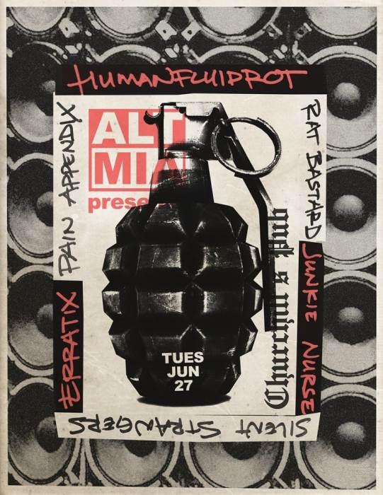 alt mia PRESENTS//// NOISE at CHURCHILLS PUB With Humanfluidrot, Rat Bastard, Pain Appendix, Silent Strangers, Erratix, Junkie Nurse, 9p/No Cover