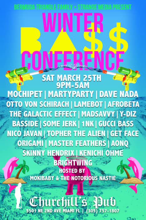WINTER BASS CONFERENCE - Mochipet, martyparty, Dave Nada, Otto Von Schirach, LAMEBOT, BASSIDE, Y Diz, The Galactic Effect, Afrobeta, MadSavvy, Niko Javan, somejerk, 1NK, Gucci Bass, O R i G A M i , and more!