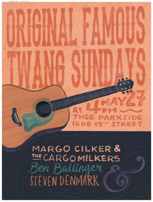 Margo Cilker & The Cargo Milkers, Ben Ballinger, Steven Denmark