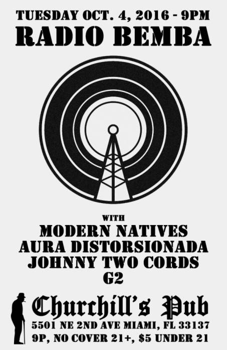 Radio Bemba! A Latin Punk/Rock Invasion with Modern natives, aura distorsionada, Johnny two cords , G2