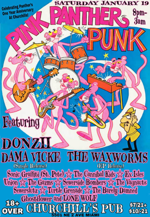 Pink Panther Punk! 3 Stages! Click for full lineup!