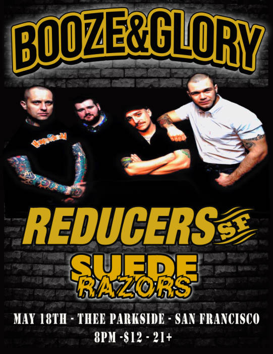 Booze & Glory, Reducers SF, Suede Razors